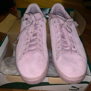 Puma Pink Suede Sneakers size 39